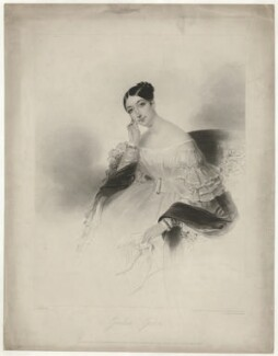 Giulia Grisi, by Frederick Christian Lewis Sr, printed by  McQueen (Macqueen), published by  John Mitchell, published by  Rittner & Goupil, after  Joseph Mathias Negelen - NPG D34978
