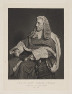 George Denman, by Goupilgravure, after  Henry Tanworth Wells - NPG D35023