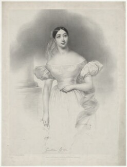 Giulia Grisi, by Joseph Mathias Negelen, printed by  Graf & Soret, published by  John Mitchell - NPG D34981