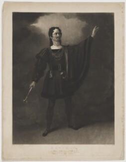 Henry Gaskell Denvil as Manfred, by James Egan, after  Henry Farrer - NPG D35028