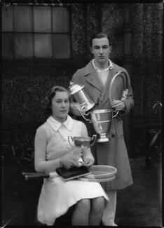 Barbara Behr (née Costerton); Derek Neville Hardwick, by Bassano Ltd - NPG x154435
