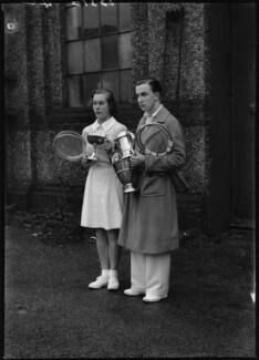 Barbara Behr (née Costerton); Derek Neville Hardwick, by Bassano Ltd - NPG x154436