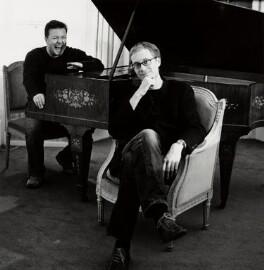 Ricky Gervais; Stephen Merchant, by Alexander McIntyre - NPG x132598