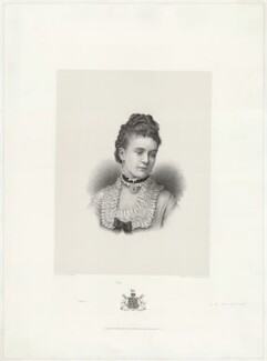 Sibell Mary Grosvenor (née Lumley), Countess Grosvenor (later Lady Wyndham), by and published by Morris & Co, after  Charles William Walton - NPG D34995