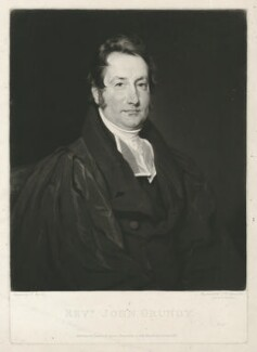 John Grundy, by Samuel William Reynolds, published by  Agnew & Zanetti, after  Henry Wyatt - NPG D35000