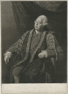 Frederick North, 2nd Earl of Guilford, by Thomas Burke, published by  William Austin, published by  William Dickinson, after  Nathaniel Dance (later Sir Nathaniel Holland, Bt) - NPG D35005