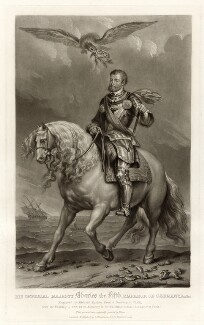 Charles V, Holy Roman Emperor, by Richard Earlom, published by  Samuel Woodburn, after a portrait attributed to  Sir Anthony van Dyck - NPG D34886