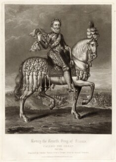 Henri IV, King of France, by Charles Turner, published by  Samuel Woodburn, after  Renold or Reginold Elstrack (Elstracke) - NPG D34888