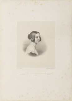 Queen Victoria, by Richard James Lane, published by  Colnaghi and Puckle, and published by  Rittner & Goupil, after  Sir William Charles Ross - NPG D35042