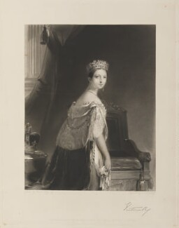 Queen Victoria, by Charles Edward Wagstaff, published by  Hodgson & Graves, after  Thomas Sully - NPG D35044