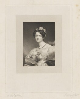 Harriet Elliot (née Warde) when Countess of Guilford, by Thomas Wright, after  Andrew Robertson - NPG D35012