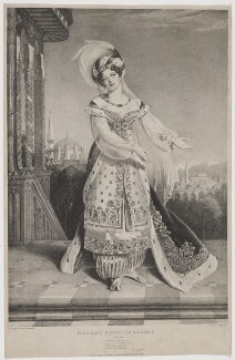 Claudine de Begnis (née Ronzi), by Alfred Edward Chalon, printed by  Charles Joseph Hullmandel, published by  Joseph Dickinson - NPG D35029