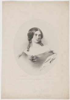 Mary Julia Fellowes (née Milles), Lady de Ramsey, by Richard James Lane, printed by  M & N Hanhart, published by  Henry Graves & Co, and published by  John Gilman, after  Frederick Newenham - NPG D35030