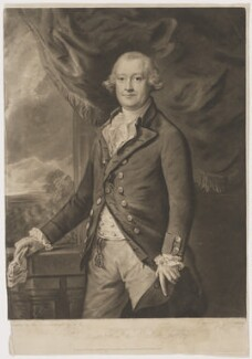 Edward Smith Stanley, 12th Earl of Derby, by George Keating, published by  William Austin, after  Thomas Gainsborough, published 20 May 1785 - NPG D35034 - © National Portrait Gallery, London