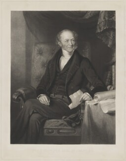 Edward Stanley, 14th Earl of Derby, by Frederick Christian Lewis Sr, printed by  Brooker & Harrison, published by  Thomas Agnew, and published by  Anaglyphic Company, after  William Derby - NPG D35036