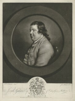 Joseph Gulston, by James Watson, printed and published by  James Bretherton, after  Hugh Douglas Hamilton - NPG D35065