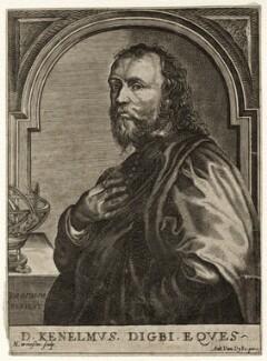 Sir Kenelm Digby, by Nicolas de Larmessin, after  Sir Anthony van Dyck - NPG D35202