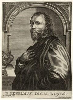 Sir Kenelm Digby, by Nicolas de Larmessin, after  Sir Anthony van Dyck - NPG D35203