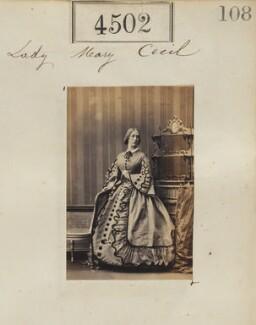 Mary Frances Ryder (née Cecil), Countess of Harrowby, by Camille Silvy - NPG Ax54514
