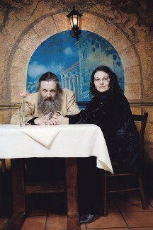 Alan Moore; Melinda Gebbie, by Jonathan Worth - NPG x132711