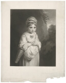 Theophila Gwatkin (née Palmer) ('The Strawberry Girl'), by Samuel Cousins, published by  Thomas Agnew & Sons Ltd, after  Sir Joshua Reynolds - NPG D35087