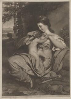 Miss Morris ('Hope Nursing Love'), by and published by Edward Fisher, after  Sir Joshua Reynolds - NPG D35088