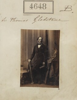 Sir Thomas Gladstone, 2nd Bt, by Camille Silvy, 27 June 1861 - NPG Ax54660 - © National Portrait Gallery, London