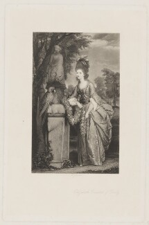 Elizabeth Stanley (née Hamilton), Countess of Derby, by W. Joseph Edwards, published by  Henry Graves, after  Sir Joshua Reynolds - NPG D35129