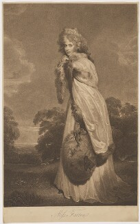 Elizabeth (née Farren), Countess of Derby, by Francesco Bartolozzi, published by  Bull & Jeffryes, after  Sir Thomas Lawrence - NPG D35133