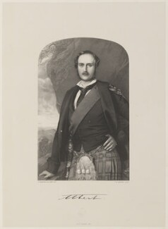 Prince Albert of Saxe-Coburg-Gotha, by Thomas Herbert Maguire, printed by  M & N Hanhart, after  Frederick A.C. Tilt - NPG D35049