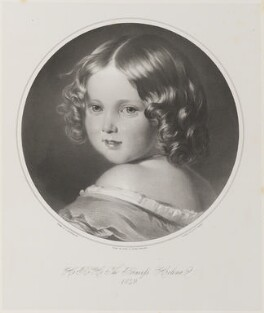 Princess Helena Augusta Victoria of Schleswig-Holstein, by Thomas Fairland, printed by  M & N Hanhart, after  Franz Xaver Winterhalter - NPG D35057