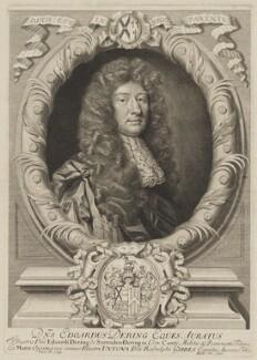 Sir Edward Dering, 2nd Bt, by Robert White, after  Sir Godfrey Kneller, Bt - NPG D35137