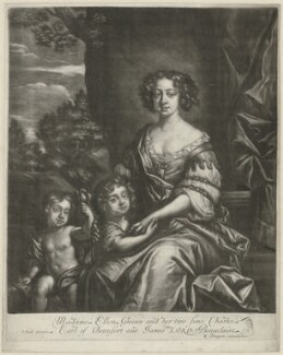 James Beauclerk; Charles Beauclerk, 1st Duke of St Albans; Nell Gwyn, by Richard Tompson, after  Sir Peter Lely - NPG D35093
