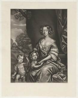 James Beauclerk; Charles Beauclerk, 1st Duke of St Albans; Nell Gwyn, after Richard Tompson, and after  Sir Peter Lely, after 1693 - NPG D35095 - © National Portrait Gallery, London