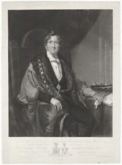 Sir John Kerle Haberfield, by George Thomas Payne, printed by  W. Hatton, published by  C. Mitchell, after  Henry Spurrier Parkman - NPG D35099