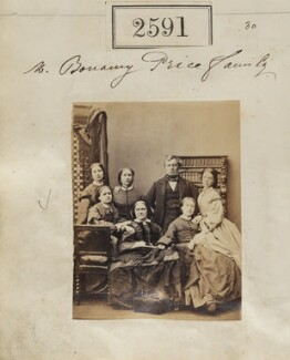 Lydia Price (née Rose) and Bonamy Price with their five daughters, by Camille Silvy, 17 March 1861 - NPG Ax51980 - © National Portrait Gallery, London