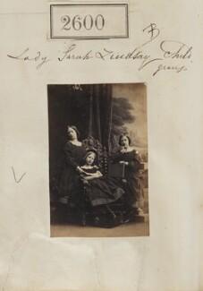 Maud Isabella Lindsay; Mary Egidia Antrobus (née Lindsay); Mabel Ramsden (née Lindsay), by Camille Silvy, 19 March 1861 - NPG Ax51989 - © National Portrait Gallery, London