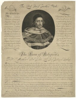 Sir Matthew Hale, sold by Edward Cooper, sold by  Henry Overton - NPG D35112