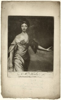 Mary Hale (née Chaloner) as Euphrosyne, by Richard Purcell (H. Fowler, Charles or Philip Corbutt), published by  Robert Sayer, after  Sir Joshua Reynolds - NPG D35118