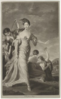 Mary Hale (née Chaloner) as Euphrosyne ('L'Allegro'), by James Watson, sold by  Ryland and Bryer, after  Sir Joshua Reynolds - NPG D35120