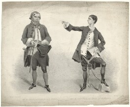 Harry Hall as Jonathan Wild; Robert William Honner as Jack Sheppard, by John William Gear, printed by  M & N Hanhart - NPG D35221