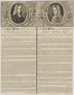 William Paul; John Hall, by Unknown artist, 13 July 1716 - NPG D35222 - © National Portrait Gallery, London