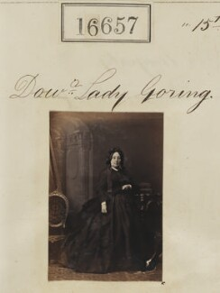 Mary Elizabeth (née Lewis), Lady Goring, by Camille Silvy - NPG Ax64558