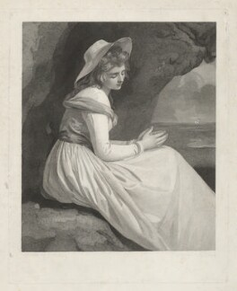 Emma Hamilton, by Charles Brome, by  Thomas Bragg, after  George Romney - NPG D35243