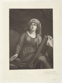 Emma Hamilton as a Sibyl, by Dudley H. Pratt, after  Elisabeth-Louise Vigée-Le Brun - NPG D35245