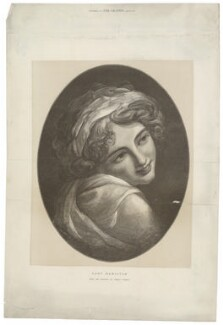 Emma Hamilton as a Bacchante, by Henry Sigismund Uhlrich, after  George Romney - NPG D35247