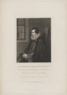 Charles Blount, Earl of Devonshire, by Edward Scriven, and by  William Derby, published by  Harding & Lepard, after  Unknown artist - NPG D35156