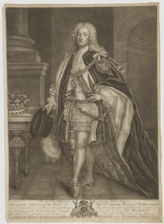 William Cavendish, 3rd Duke of Devonshire, by John Brooks, sold by  Thomas Jefferys, and sold by  William Herbert, after  James Worsdale - NPG D35158