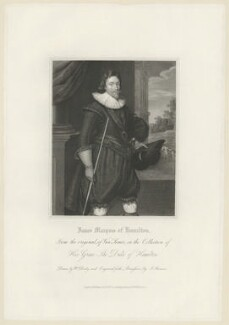James Hamilton, 2nd Marquess of Hamilton, by James Thomson (Thompson), published by  Harding & Lepard, after  Paul van Somer - NPG D35254
