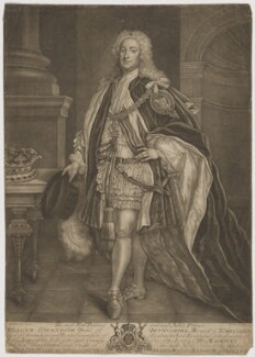 William Cavendish, 3rd Duke of Devonshire, by John Brooks, sold by  Thomas Jefferys, and sold by  William Herbert, after  James Worsdale - NPG D35159